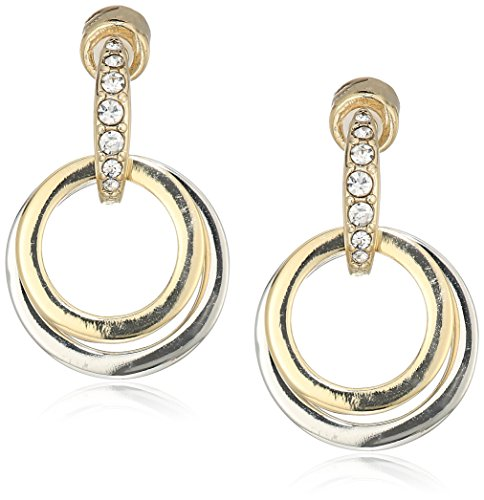 - Kenneth Cole New Women's Trinity Rings Gold and Silver Door Knocker Earrings
