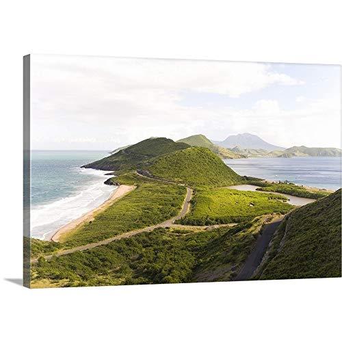 North Frigate Bay - Greg Johnston Premium Thick-Wrap Canvas Wall Art Print entitled North Frigate Bay, southeast peninsula, St Kitts, Caribbean 48