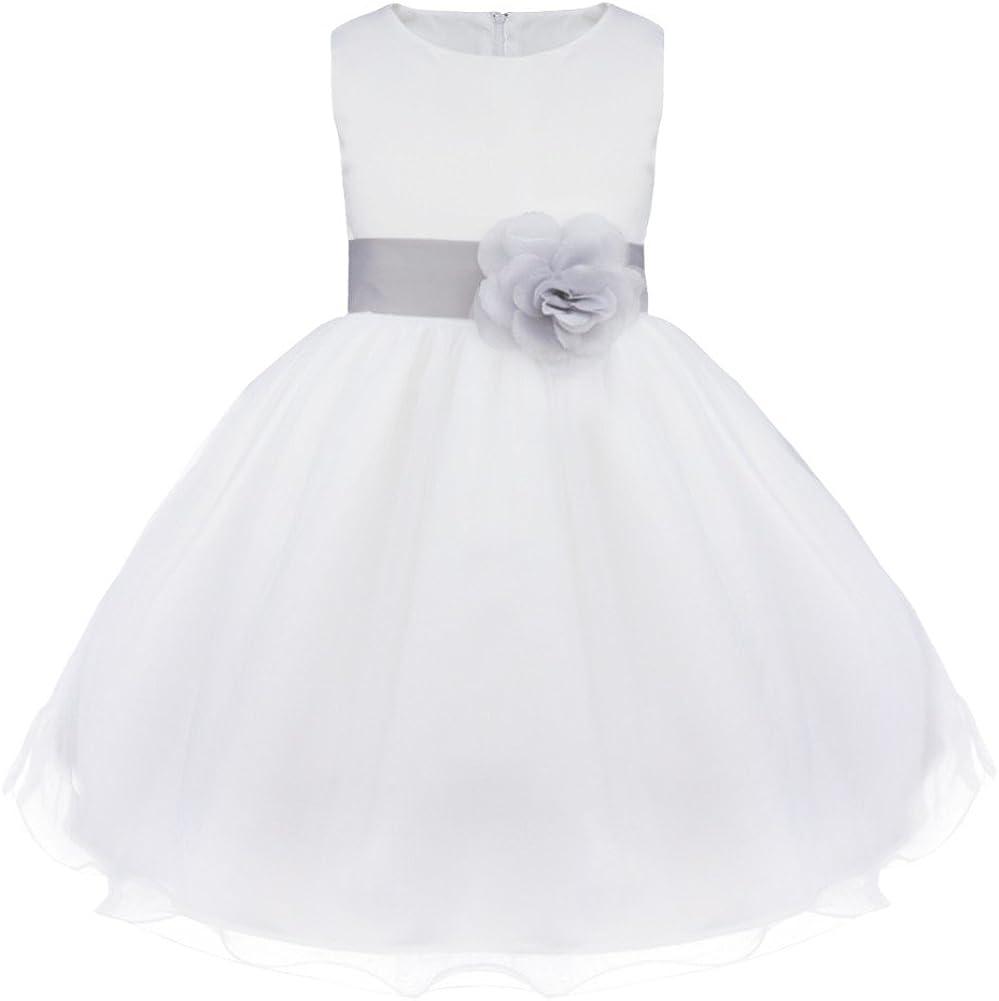 Kleid Taufkleid Blumenmädchenkleid mit Reifrock und Tasche #P28 Kommunionkleid