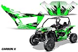 AMRRACING Arctic Cat Wildcat Sport XT Full Custom UTV Graphics Decal Kit Carbon X Green