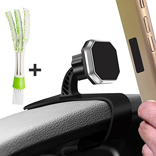 AFUNTA Car Dashboard Cell Phone Holders with Air Vent Brush