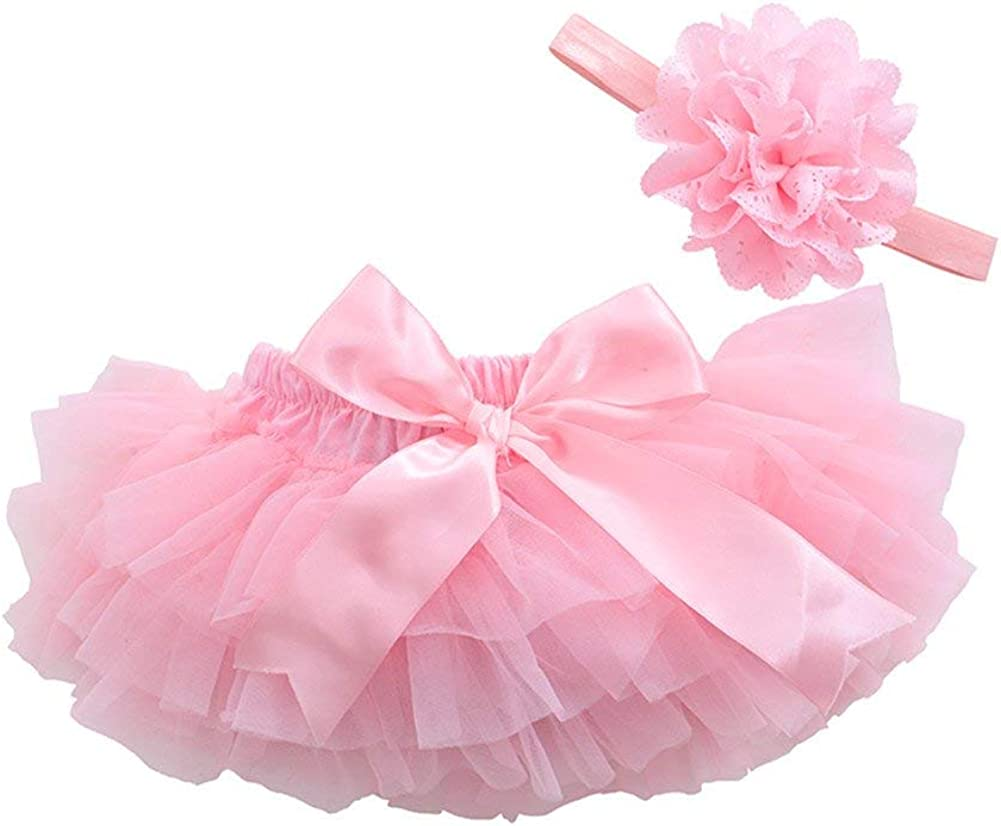3PCS Newborn Baby Girl Splice Lace Tulle Summer Top Ruffled Shorts Bloomers Headband Set