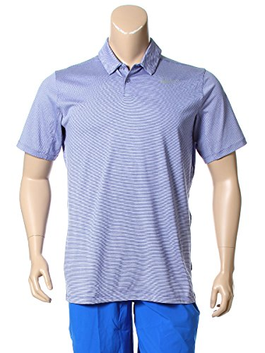 (ナイキ) NIKE 大きいサイズ メンズ ロゴ ボーダー 半袖 ゴルフ ポロシャツ DRI FIT [並行輸入品]