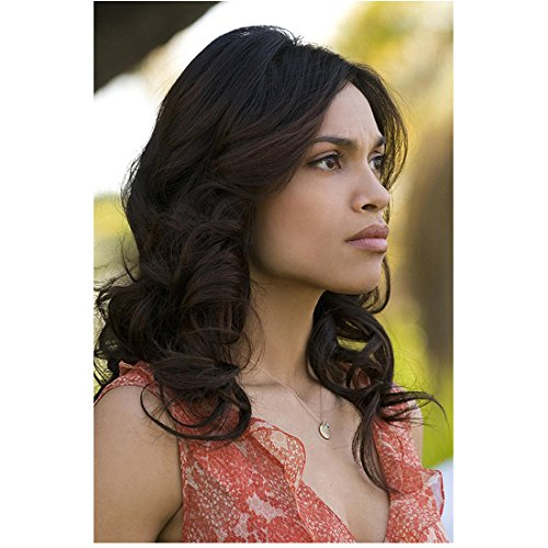 Seven Pounds 2008 - Seven Pounds (2008) 8 Inch x 10 Inch Photograph Gorgeous Rosario Dawson Coral Dress Looking Left kn