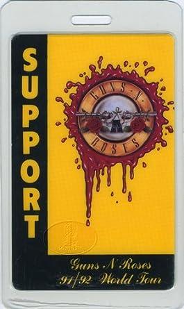Guns N Roses 1991 92 Laminated Backstage Pass Support At Amazons