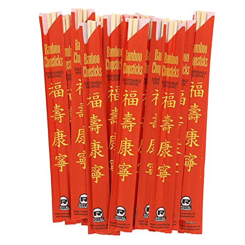 Royal Premium Disposable Bamboo Chopsticks, 9'' Sleeved and Separated, UV Treated, Case of 1000 by Royal (Image #4)