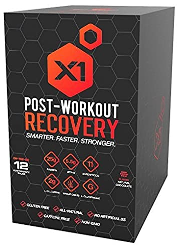 Post Workout Recovery Protein Powder Best All-Natural Muscle Building Supplement, with 25g Protein 5.5g BCAAs Natural Chocolate