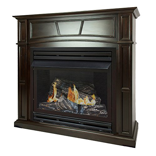 Pleasant Hearth 46 Full Size Tobacco Natural Gas Vent Free Fireplace System 32,000 BTU, Rich ()
