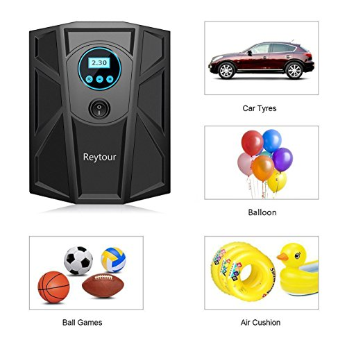 Tire Inflator, Digital 12V Portable Auto Air Compressor Pump, Preset Pressure, 100PSI for Vehicles, Tires Balls, Inflatable Objects by NickSea (Image #2)