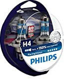 philips xtreme vision car lamp - Philips RacingVision H4 Headlight Bulbs (Twin) 12342RVS2 Xtreme Vision Upgrade