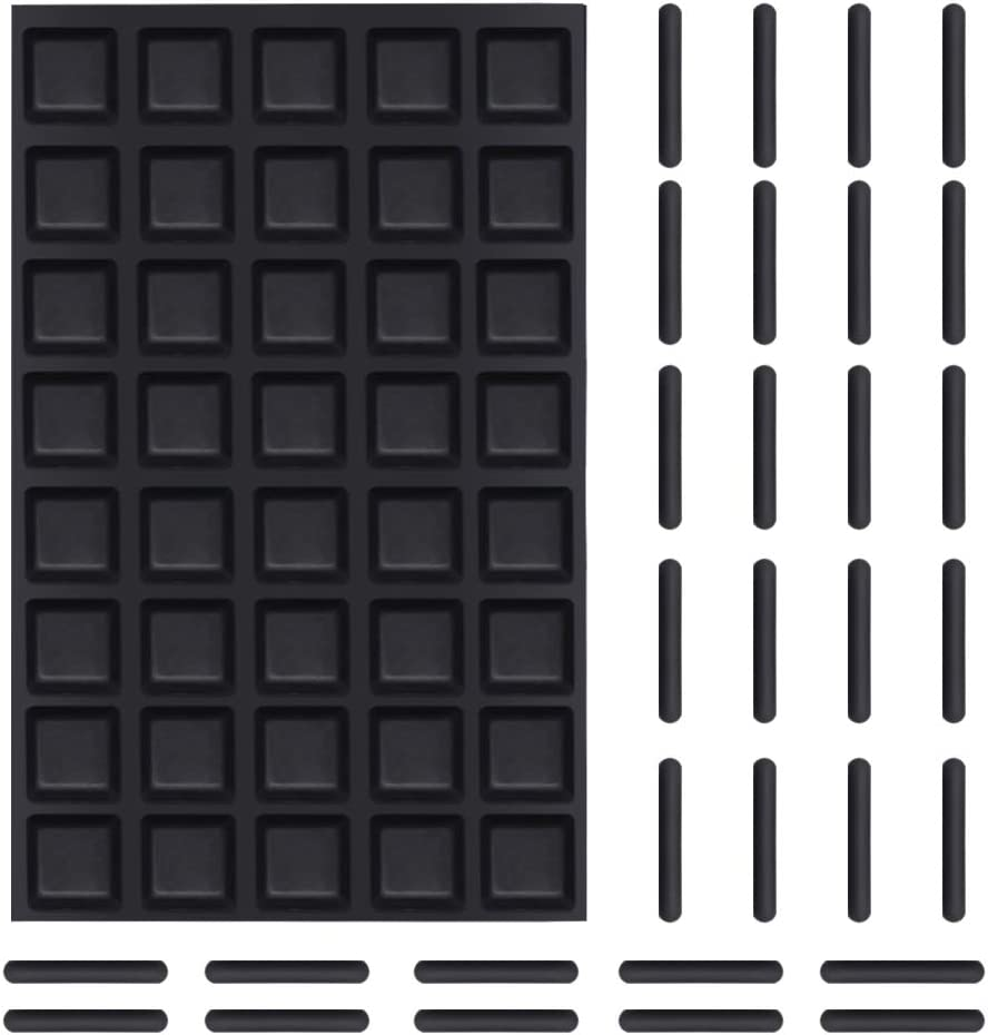 Shintop Furniture Bumpers, 120 Pieces Adhesive Glass Top Bumpers with Door Frame Bumpers and Anti-Scratch for Glass, Doors, Cabinets Drawers Window Edge and Furniture Protection (Black)
