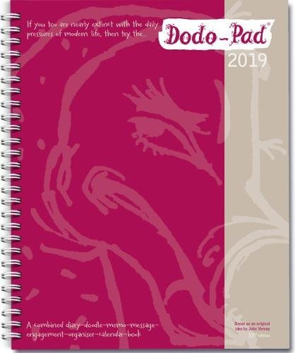 Dodo Pad Desk Diary 2019 - Calendar Year Week to View Diary: The Original Family Diary-Doodle-Memo-Message-Engagement-Organiser-Calendar-Book with room for up to 5 people's appointments/activities