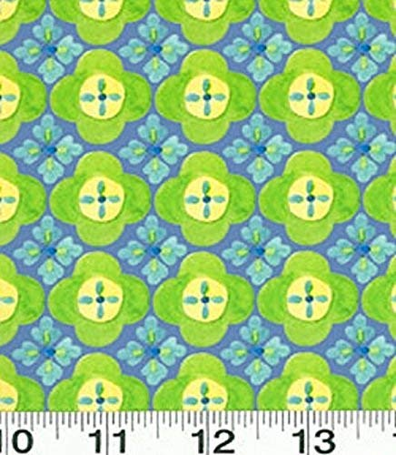 (1 Yard Suzette by Sue Zipkin from Clothworks Blue Geometric 100% Cotton Quilt Fabric Y0912-30)