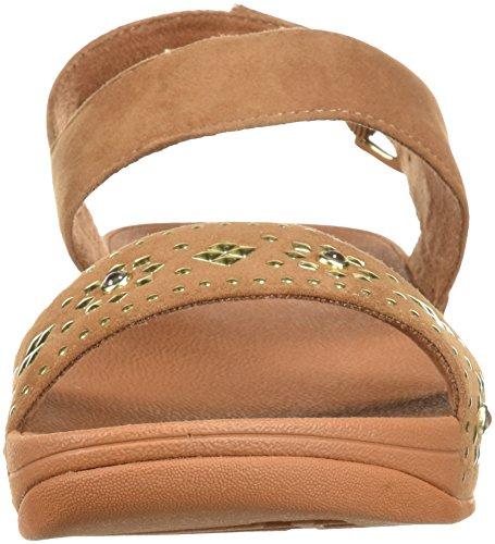 Fitflop Donna Lulu Aztek Borchiato Con Cinturino In Sandalo Color Caramello