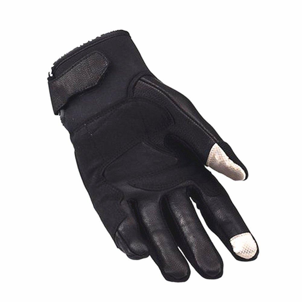 QARYYQ Anti-Kollisions-Reiten-Touchscreen-Handschuhe Kohlefaserhandschuhe, Schwarz Handschuh (größe   (größe  M) edf50a