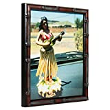 Craig Frames 8575 8 by 10-Inch Picture Frame, Bamboo Composite Finish.625-Inch Wide, Brushed Mahogany and Brown