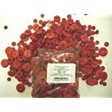 2 x 100g Bags KosiKrafts Art And Crafts RED Sewing BUTTONS
