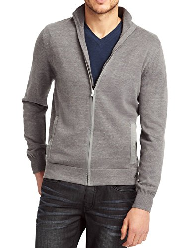 Kenneth Cole New York Men's Space-Dye Full Zip Sweater