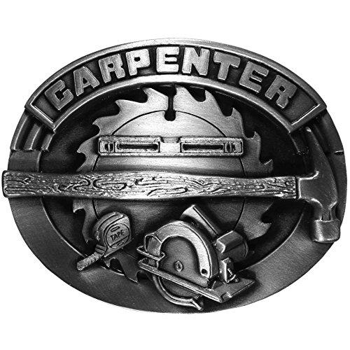 (Carpenter Antiqued Belt Buckle)