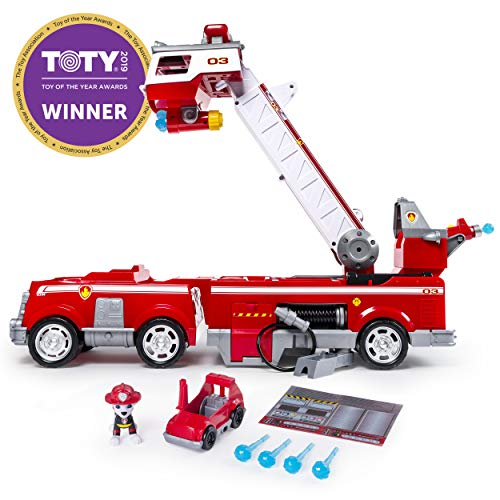 Police Fire Truck - PAW Patrol - Ultimate Rescue Fire Truck with Extendable 2 Foot Tall Ladder, Ages 3 and Up