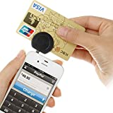 Mobile Credit Debit Card Reader For Apple Android Ios,3.5Mm (Black)-