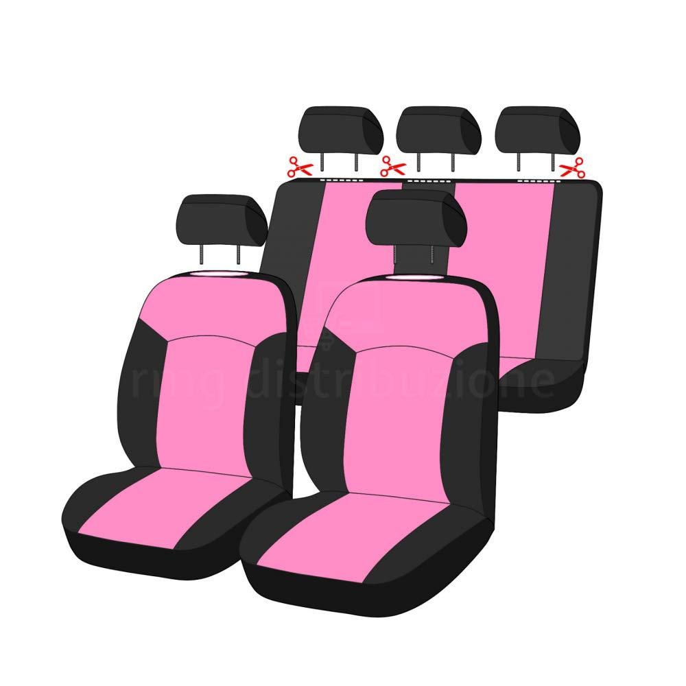 2003 -/2011 sedili Posteriori sdoppiabili R03S0396 Neri Rosa compatibili con sedili con airbag bracciolo Laterale rmg-distribuzione Coprisedili per YPSILON Versione