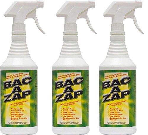 - Bac-A-Zap Odor Eliminator - Quart (3-Pack)