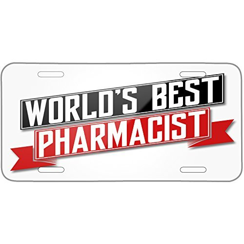 (Worlds Best Pharmacist Metal License Plate 6X12 Inch)