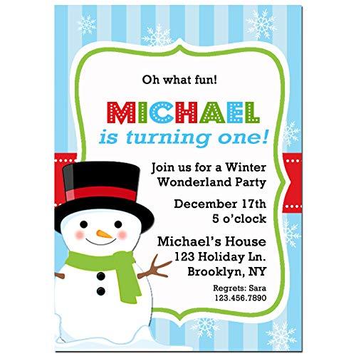 amazon com christmas party invitation snowman invitation