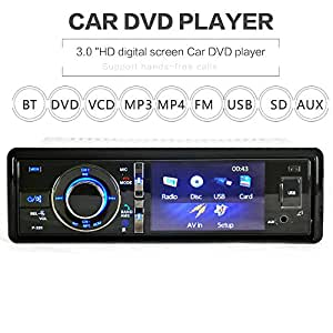 Amazon. Com: jtkjmo single-din 3 inch in-dash car stereo player.
