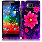Warrior Wireless (TM) For Motorola Droid Razr Maxx HD XT926M Rubberized Design Cover Case - Divine Flower + Bundle = (ITEM + CELLPHONE STAND) - By TheTargetBuys