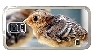 Hipster Samsung Galaxy S5 Cases discount peacock chick PC Transparent for Samsung S5 by supermalls