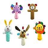 5 PCS Set Cartoon Stuffed Animal Baby Soft - Best Reviews Guide