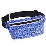 Cheap MoKo Sports Running Belt for iPhone X/8 Plus/7/6s Plus, Ultra Slim Bounce Free Waist Bag Lightweight Reflective Sweatproof Fanny Pack Belt, Water Resistant Outdoor Gear Bag – Indigo