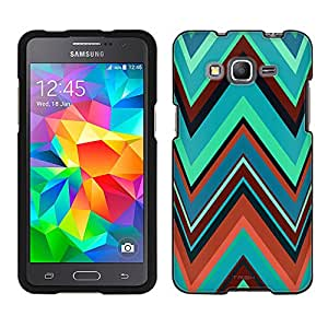 Samsung Galaxy Grand Prime Case, Snap On Cover by Trek Chevron Green Cartoon Style Case