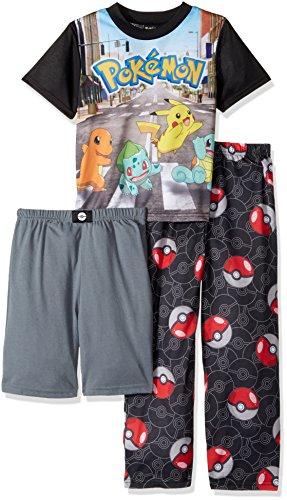 Pokemon Boys' 3-Piece Pajama Set Photo - Pokemon Gaming