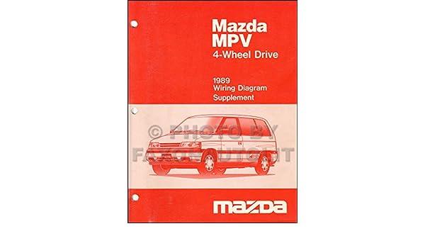 1989 mazda mpv 4wd wiring diagram manual supplement original: mazda:  amazon com: books