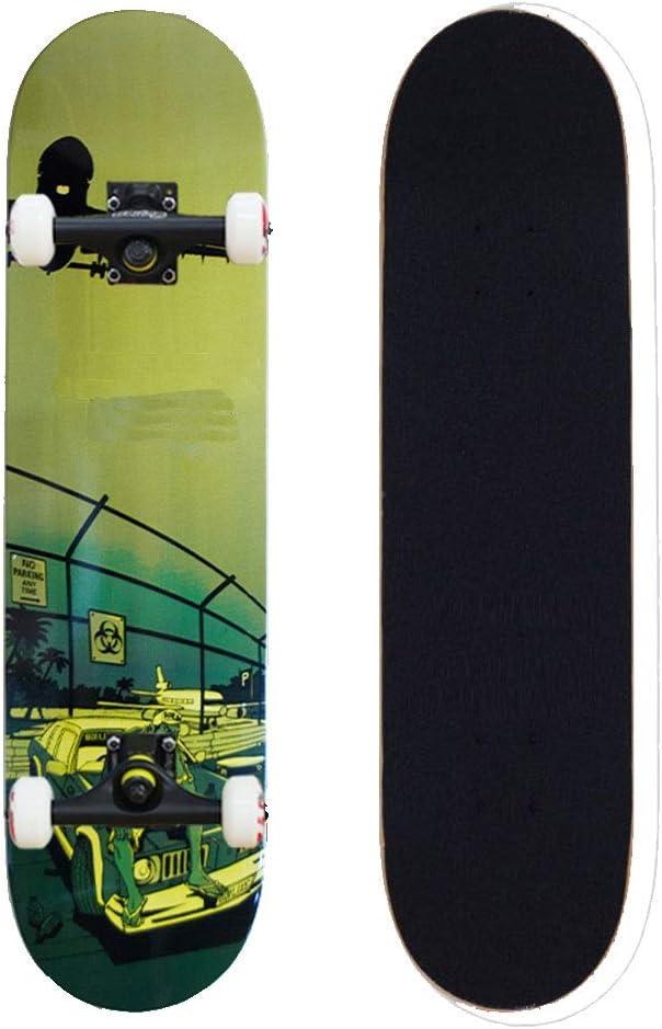 TLMYDD スケートボード初心者ダブルロッカー四輪スクロールダンス屋外スポーツ玩具 スケートボード (Color : 緑) 緑