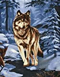 Trail Crest Real Life Wolf Fleece Throw Blanket Gift Idea