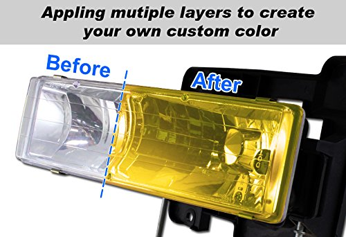 3 X Vans 110ML JDM Yellow Fog Tint Lens Head Tail Bumper Light Painter Paint Spray