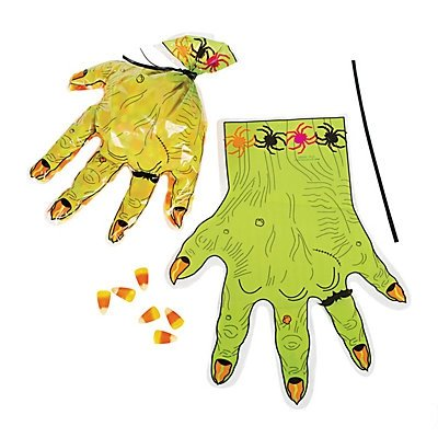 Monster Hand-Shaped Goody Bags 2 dozen]()