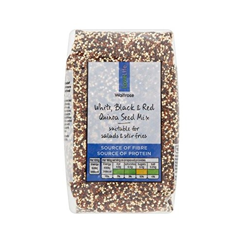 Three Colour Quinoa Blend Waitrose Love Life 375g - Pack of 6 by Waitrose Love Life