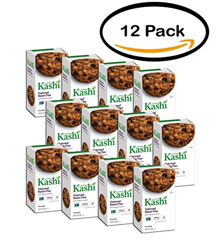 - PACK OF 12 - Kashi Oatmeal Raisin Flax Soft-Baked Cookies 8.5 oz. Box