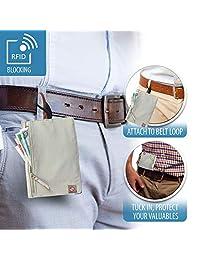 Lewis N. Clark RFID Hidden Travel Wallet, Brown, One Size