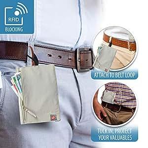 Lewis N Clark RFID Security Hidden Loop Wallet, Beige