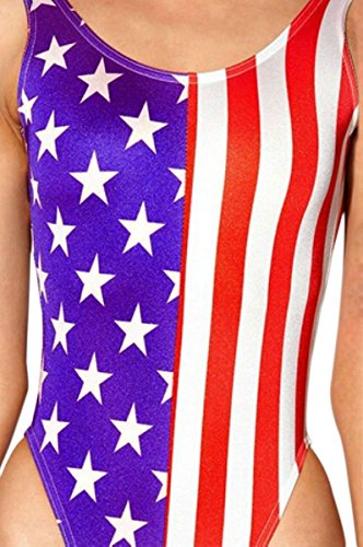 Uget-Womens-Printed-American-Flag-One-Piece-Swimsuit-Sexy-Monokini-Swimsuit