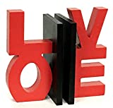 Bellaa 22762 Love Word Bookends Inspirational Bookshelf Decor 7.5'' inches Tall