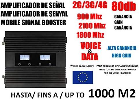 Amplificador de señal móvil 2G 3G 4G 900 2100 1800 MHz para Movistar Vodafone Orange: Amazon.es: Informática