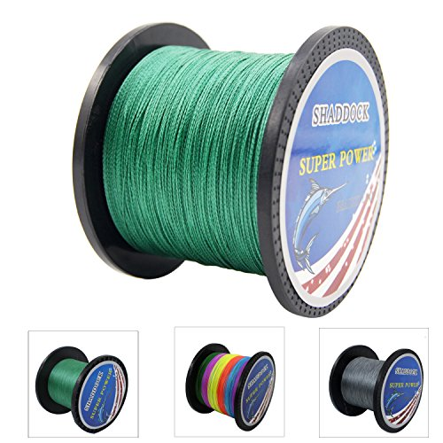 Super Strong Braided Fishing Line - 4 Strands Multifilament Pe Fishing Line - Abrasion Resistant Braided Lines – Incredible Super Power line - 12LB 110Yards 0.4# Green