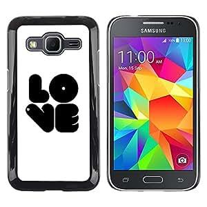 Exotic-Star ( Black LOVE ) Fundas Cover Cubre Hard Case Cover para Samsung Galaxy Core Prime / SM-G360